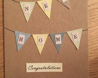 Handmade 'New Home' card