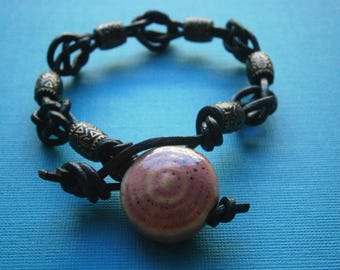 Josephine Knot Bracelet with Dusty Pink accent bead