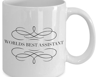 Assistant Gift coffee mug - worlds best assistant - Unique gift mug for Assistant