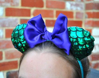 Mermaid Inspired Minnie Ears