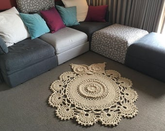 Owl Floor Rug - MADE TO ORDER