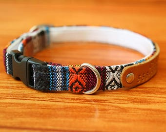 Native Color Cat Collar Personalized, Aztec Cat Collar Breakaway, Chocky Cat Collar Personalized, Kitten Collar, Small Dog Collar