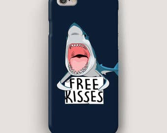 Shark iPhone 7 Case, Cool iPhone 6 Case, iPhone 5S Case, Galaxy S6 Case, Cell Phone Case, iPhone Cover, Gift for Friend, Samsung Case Blue