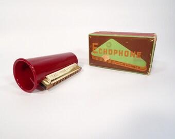 Antique Mouth Organ / M. Hohner Echophone Harmonica / Vintage Instrument / Retro Harmonica