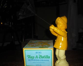 Avon's Tug-A-Brella is a young boy in a wind storm