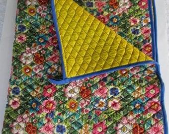 Mulit Color Handmade Quilt 37X42