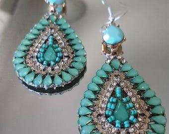 Turquoise drop Earings