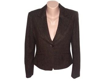 Vintage Josephine & Co women 100% wool blazer brown