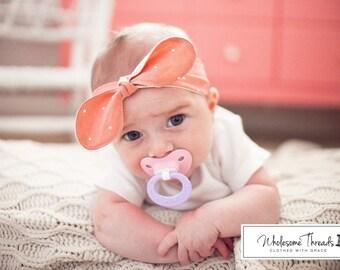 Baby Booties & Matching Knot Headband