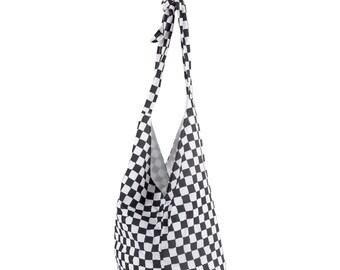 Shoulder bag Shopperbag black and white diamonds