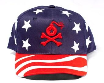 USA Stars American Flag Snapback Dad Hat