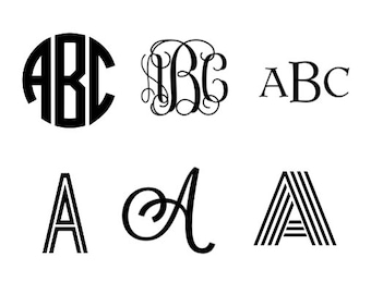 Personalized Monogram Vinyl Decal