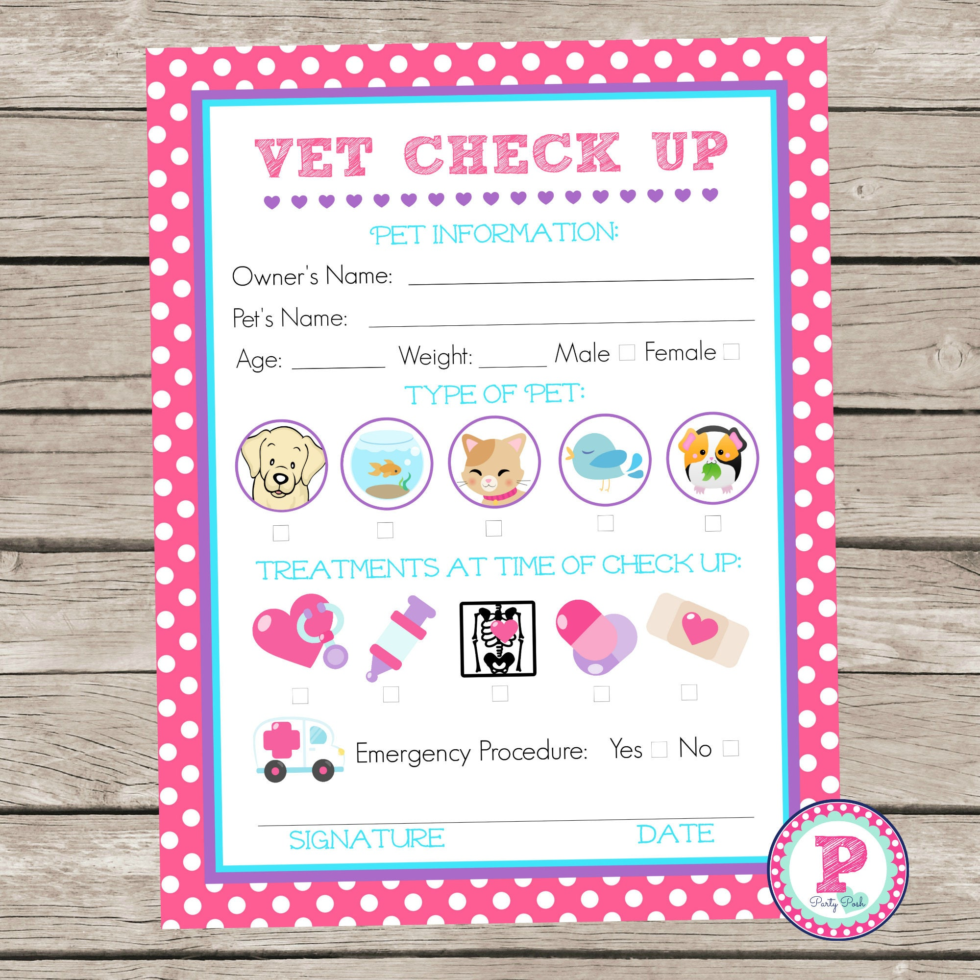 Adopt a Pet Vet Checkup Birthday Party Ideas Polka Dot