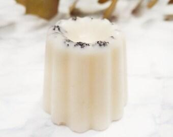 Natural coconut scrub & vanilla - 100% soy wax - organic essential oil - Organic Cosmetic - Peeling