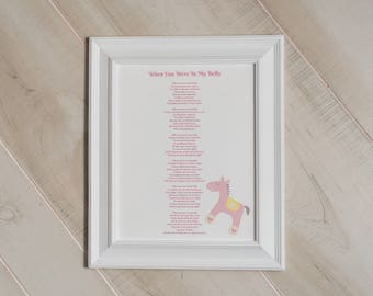 """Mother's Day gift, Nursery Wall Art,  """"When You Were In My Belly,"""" New Baby Gift,  Unique Baby Shower Gift, Pregnancy Gift, Mom To Be Gift,"""