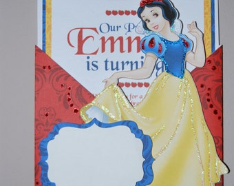 Snow White Pocket Invite