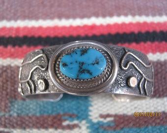 Navajo Sand Cast Bracelet