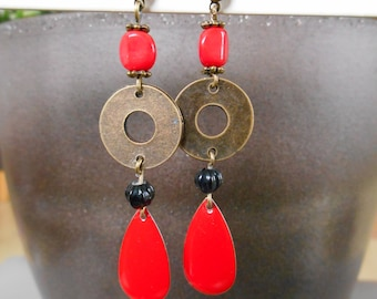 RED BRONZE EARRINGS