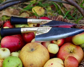 """Hand forged 6 1/2"""" high carbon steel kitchen knife"""