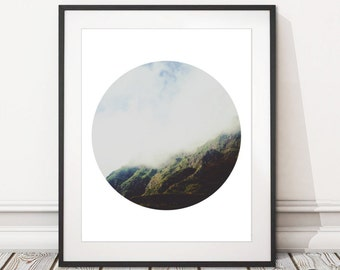Mountain Mist Photography Print | Digital Download Mountains Photography Print Printable | INSTANT DOWNLOAD | Nature Landscape Photography