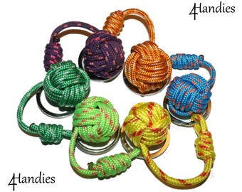 Keychain monkey's fist - monkey knot cordino
