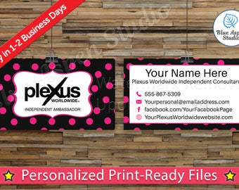 Plexus Business Cards Printable Digital Printed Personalized Custom Customized Consultant Cards PLX-BC102