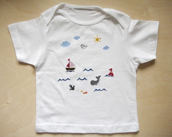 T shirt baby sea 56-74 can be customized