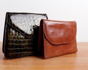 Martini Osvaldo Italian Faux Leather Retro Purses