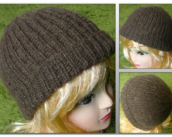 Simple hat from pure new wool, hand knitted, simple has, virgin wool, unisex, punk, cap, beanie, hand knitted, warm