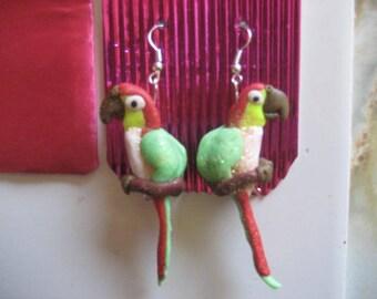 Polymer,Parrot, Earrings, Jewellery