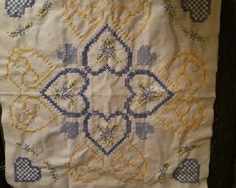 Hand embroidered square