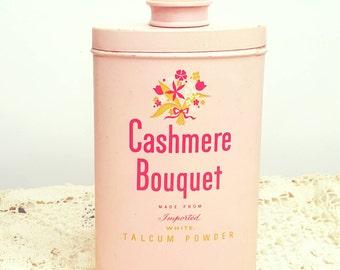 Vintage Antique Colgate-Palmolive Cashmere Bouquet Talc