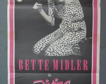 Divine Madness - Bette Midler - Australian Daybill Poster