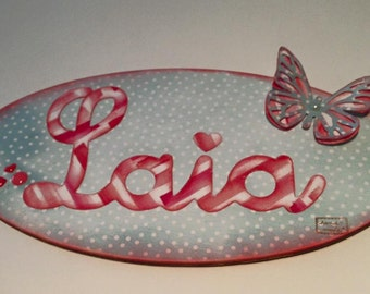 Little signs personalized with name