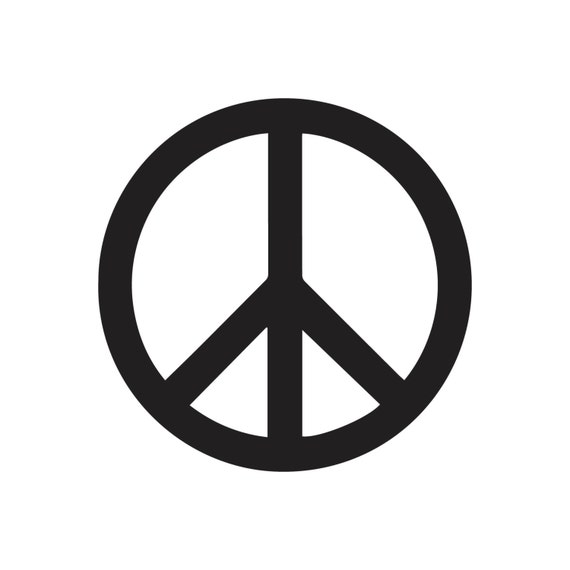 Peace Sign Digital File For Cutting On Silhouette Cricut Or