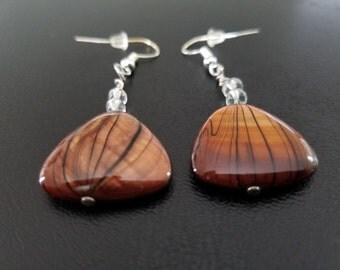Brown Gem Earrings