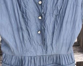 Ann kaufman fit and flare 50's taffeta dress