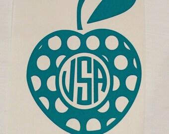 Monogram Apple Decal