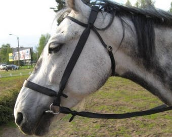 """Bridle """"Steppe"""" or """"Cossack""""with rein, Horse tack, Handmade"""