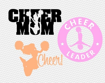 Cheerleader svg, Cheer mom svg, Cheerleading svg, Cheer svg files, Cheer clipart, Cricut, Cameo, Cut file, Clipart, Svg, DXF, Png, Pdf, Eps