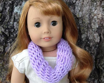 2 Doll Infinity/Eternity Scarves Lavender and Sky Blue