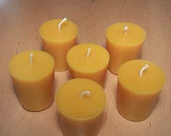 Beeswax candles set of 6