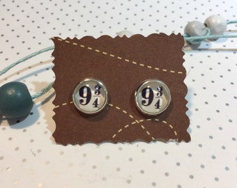"Harry Potter earrings cabochon platform ""9 3/4"""
