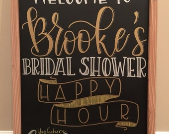 Bridal or Baby Shower Chalkboard - Customizable