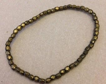 Vintage Bronze Bead Bracelet