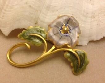 Vintage Lavender Flower Pin