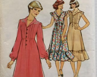 Vintage 1970's Style sewing pattern 2240 - Misses' high waisted dress