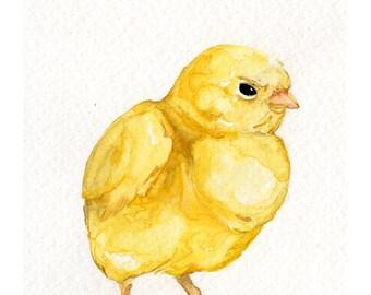 Baby Chick-Original Watercolor