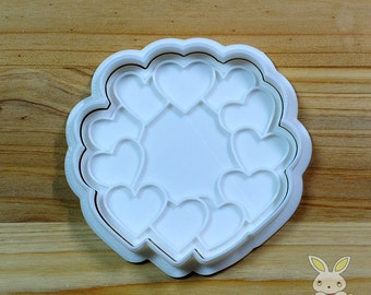 Heart Wreath Cookie Cutter and Stamp