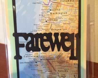 Farewell Card Travel Handmade